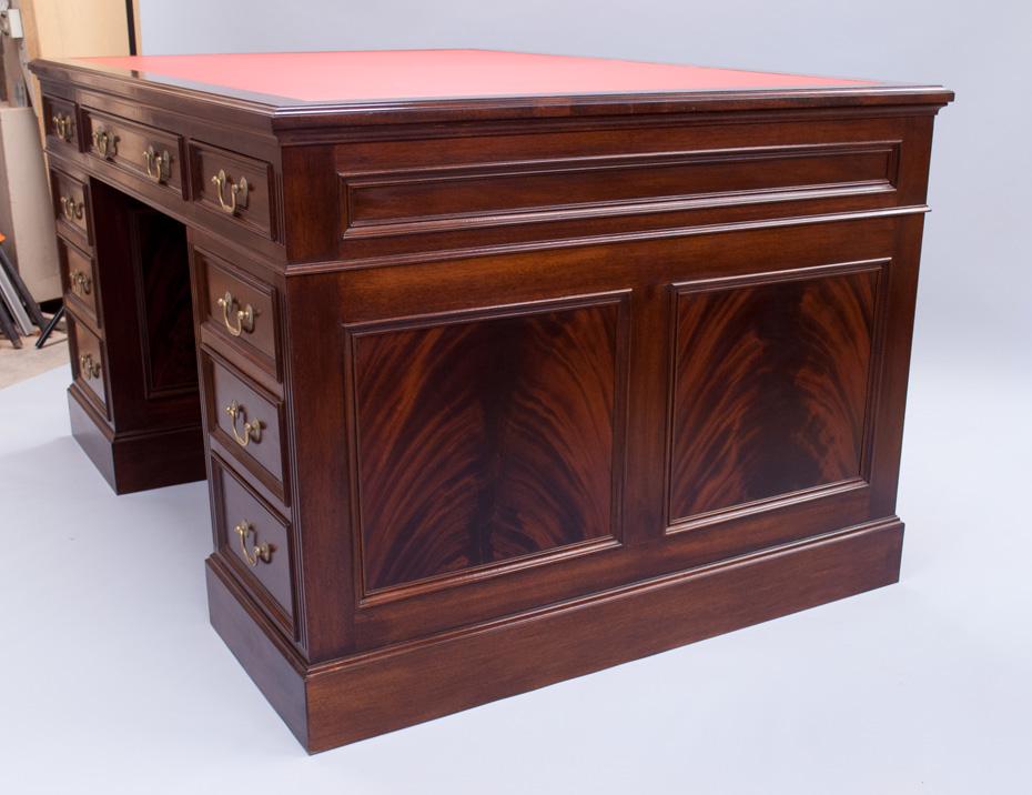 burled niagara furniture top desk product leather dsc partners