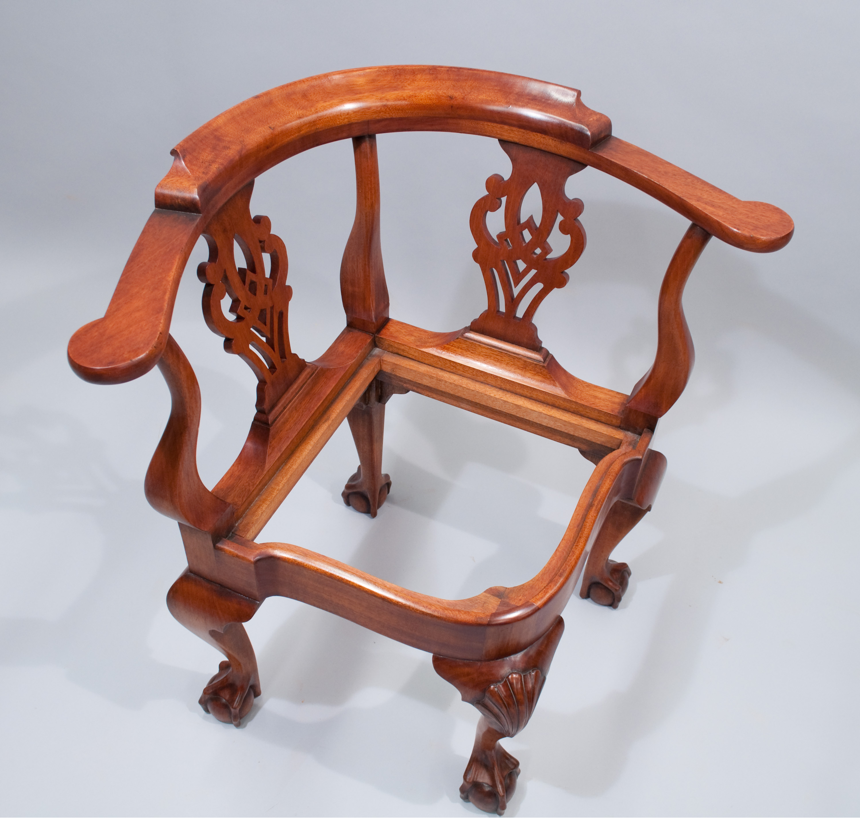 ... Corner Chair. It Was Commissioned Based On A Chair In The Museum Of  Fine Arts In Boston. The Finish Is Color Matched And Distressed To Match An  Existing ...