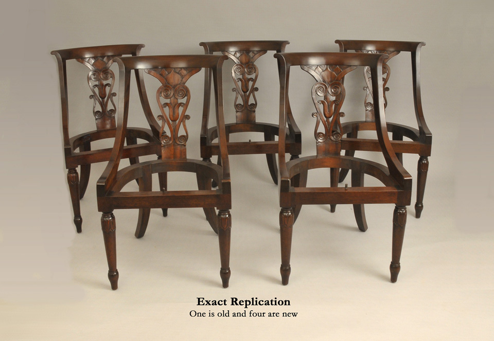 Barrel Back Chairs Exact Reproduction - Antique Reproduction Furniture Custom Period Furniture In CT