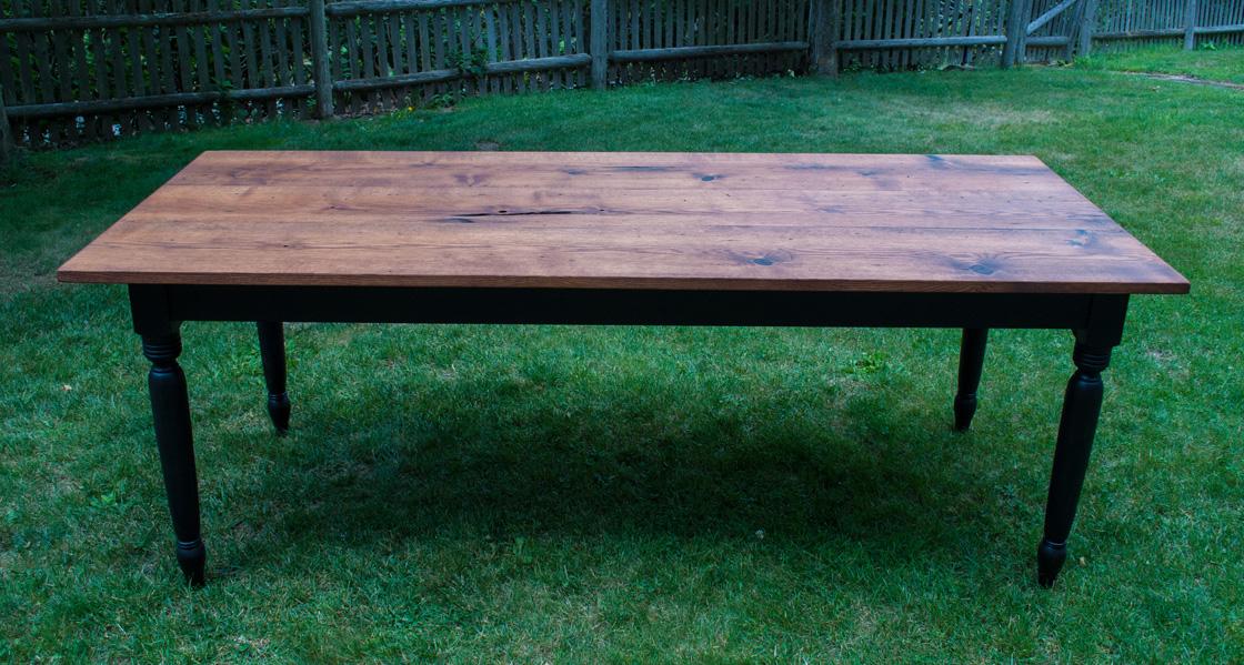 Farm Table In Reclaimed Oak